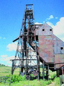 Portland Mine steel headframe