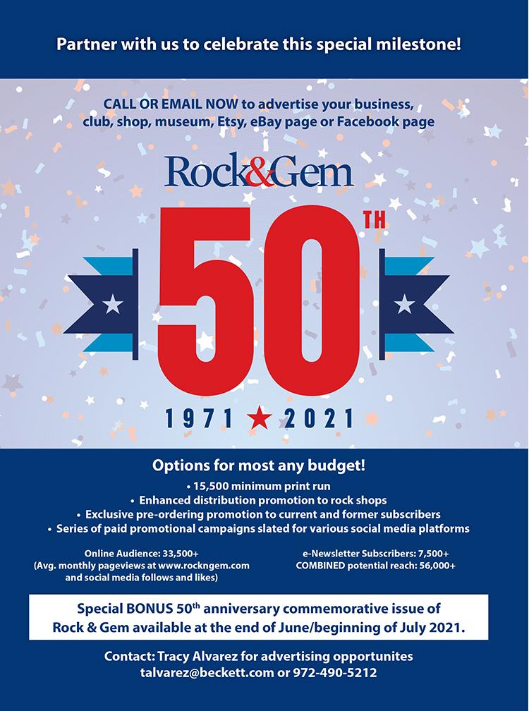 Rock & Gem 50th Anniversary Commemorative Advertising Pack