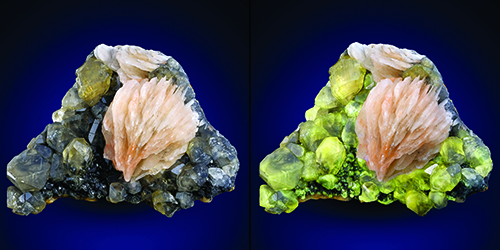 Glow that radiates from a specimen of cerussite