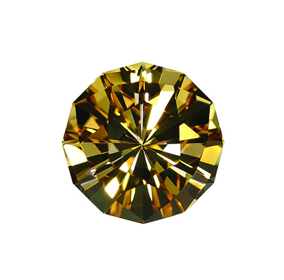 Trisparkle 12 design done in golden citrine