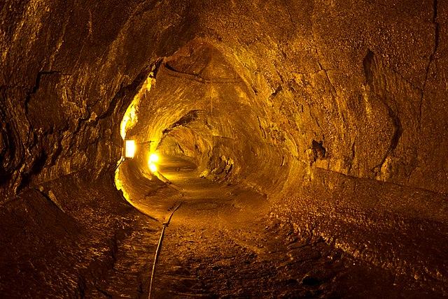 Lava tube interior