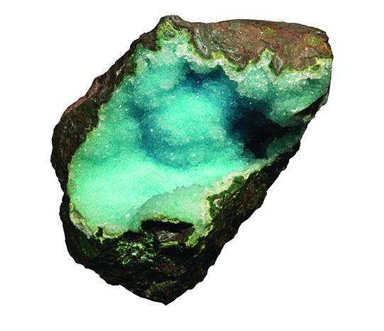 Chrysocolla with quartz