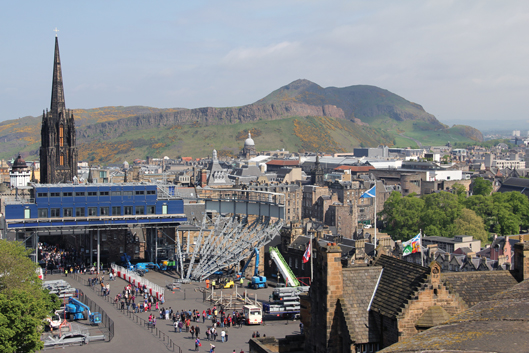 Salisbury Crags and Arthur's Seat