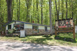 "Dinger's Rock Shop in Michigan's ""Petoskey Stone"" region"