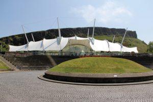 Dynamic Earth museum in Edinburgh, Scotland