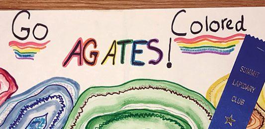 """Go Colored Agates!"" poster"