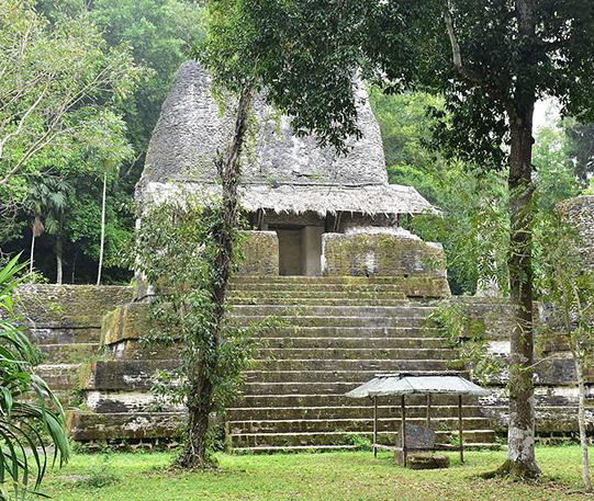 Mayan pyramid structure