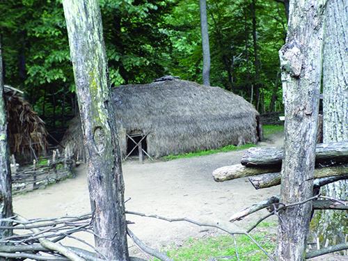 Reconstructed Monacan village