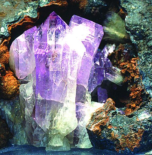 Violet colored adamite