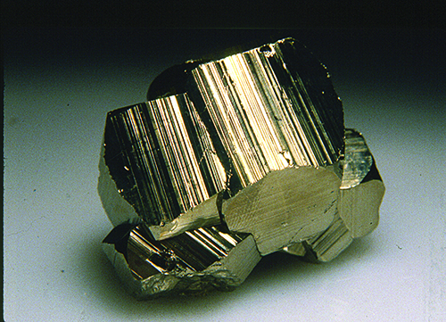 Pyrite with striations